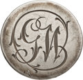 Political:Inaugural (1789-present), George Washington: Pewter GW Inaugural Button with Script Initials. ...