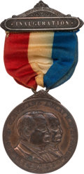Political:Inaugural (1789-present), Grover Cleveland: Official Jugate Inaugural Medal Badge....