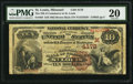 National Bank Notes:Missouri, Saint Louis, MO - $10 1882 Brown Back Fr. 484 The NB of CommerceCh. # (M)4178. ...