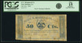 Obsoletes By State:Louisiana, New Orleans, LA- C. C. Morgan & Co., Redeemable at Crescent City Soap Works 50 Cents Feb., 1862. ...