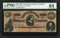 "Confederate Notes:1864 Issues, CT65/491 ""Havana Counterfeit"" $100 1864.. ..."