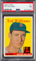 Baseball Cards:Singles (1950-1959), 1958 Topps Ted Williams #1 PSA NM 7....
