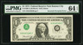 Error Notes:Inverted Third Printings, Inverted Third Printing Error Fr. 1908-J $1 1974 Federal ReserveNote. PMG Choice Uncirculated 64 EPQ.. ...