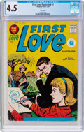 Silver Age (1956-1969):Romance, First Love Illustrated #1 (Thorpe & Porter, 1959) CGC VG+ 4.5Light tan to off-white pages....