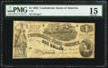 Confederate Notes:1862 Issues, T44 $1 1862 PF-2 Cr. 340.. ...