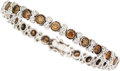 Estate Jewelry:Bracelets, Colored Diamond, Diamond, White Gold Bracelet ...