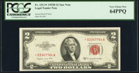 Fr. 1511* $2 1953B Legal Tender Star Note. PCGS Very Choice New 64PPQ