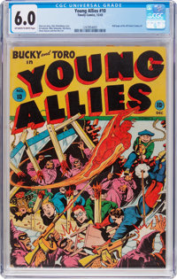 Young Allies Comics #10 (Timely, 1943) CGC FN 6.0 Off-white to white pages