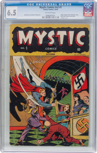 Mystic Comics V2#1 (Timely, 1944) CGC FN+ 6.5 Off-white pages