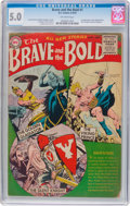 Golden Age (1938-1955):Adventure, The Brave and the Bold #1 (DC, 1955) CGC VG/FN 5.0 Off-white pages....