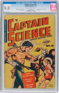 Golden Age (1938-1955):Superhero, Captain Science #1 (Youthful Magazines, 1950) CGC VF 8.0 Cream to off-white pages....