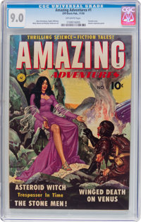 Amazing Adventures #1 (Ziff-Davis, 1950) CGC VF/NM 9.0 Off-white pages