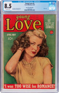 Golden Age (1938-1955):Romance, Young Love #2 Mile High Pedigree (Prize, 1949) CGC VF+ 8.5Off-white pages....
