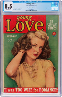 Young Love #2 Mile High Pedigree (Prize, 1949) CGC VF+ 8.5 Off-white pages