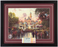 "Miscellaneous Collectibles:General, Offered here is a stunning reproduction Thomas Kinkade print featuring Walt Disney World. Framed and matted at 17x19.5"", it feat..."