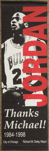 Basketball Collectibles:Others, Michael Jordan Chicago Bulls Retirement Banner. . ...
