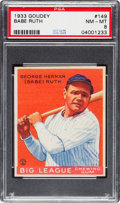 Baseball Cards:Singles (1930-1939), 1933 Goudey Babe Ruth #149 PSA NM-MT 8.. ...