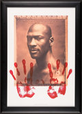 """Basketball Collectibles:Others, 1999 Michael Jordan """"Hands"""" Limited Edition Lithograph. . ..."""