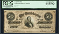 Confederate Notes:1864 Issues, T66 $50 1864 PF-21.. ...
