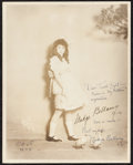 "Movie Posters:Miscellaneous, Madge Bellamy (c. 1910s). Autographed Photo (7.5"" X 9.5"").Miscellaneous.. ..."