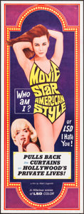 """Movie Posters:Exploitation, Movie Star, American Style or; LSD, I Hate You (Famous PlayersCorp., 1966). Insert (14"""" X 36""""). Exploitation.. ..."""