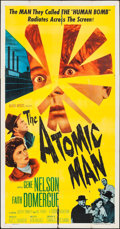 "Movie Posters:Science Fiction, The Atomic Man (Allied Artists, 1956). Three Sheet (41"" X 78.5"").Science Fiction.. ..."