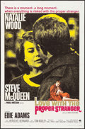 """Movie Posters:Romance, Love with the Proper Stranger (Paramount, 1964). One Sheet (27"""" X 41""""). Romance.. ..."""
