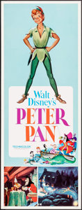 "Movie Posters:Animation, Peter Pan (Buena Vista, R-1969). Insert (14"" X 36""). Animation.. ..."