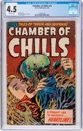 Golden Age (1938-1955):Horror, Chamber of Chills #23 (Harvey, 1954) CGC VG+ 4.5 Off-whitepages....