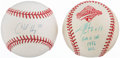Autographs:Baseballs, Charlie Hayes and Jim Leyritz Single Signed Baseballs Lot of 2.....