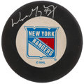 Autographs:Others, Wayne Gretzky Signed New York Rangers Hockey Puck. . ...