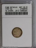 Early Half Dimes: , 1797 H10C 15 Stars--Damaged--ANACS. Fine Details, Net VG8. V-2,LM-1, R.3. The only die marriage for the year with fifteen ...