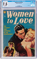Golden Age (1938-1955):Romance, Women to Love #nn (Realistic Comics, 1953) CGC VF- 7.5 Off-whitepages....