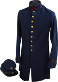 Militaria:Uniforms, Civil War Nine-Button Frock Coat and Forage Cap.... (Total: 2 Items)