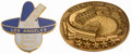 Baseball Collectibles:Pins, 1955-59 Major League Baseball All-Star Press Pins Lot of 2.. ...