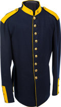 "Militaria:Uniforms, 1872-Pattern Cavalry Dress Coat with Brass ""7"" Insignia on theCollars...."