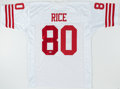 Football Collectibles:Uniforms, Jerry Rice Signed Jersey. . ...