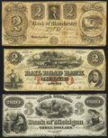 Obsoletes By State:Michigan, Three Michigan Obsoletes 1830s-50s.. ... (Total: 3 notes)
