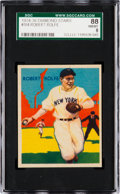 Baseball Cards:Singles (1930-1939), 1934-36 Diamond Stars Robert Rolfe #104 SGC 88 NM/MT 8 - Pop Two, None Higher....
