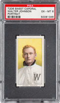 Baseball Cards:Singles (Pre-1930), 1909-11 T206 Sweet Caporal Walter Johnson (Portrait) PSA EX-MT6....