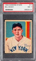 Baseball Cards:Singles (1930-1939), 1934-36 Diamond Stars Bill Dickey #11 PSA NM 7....