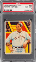 Baseball Cards:Singles (1930-1939), 1934-36 Diamond Stars Rogers Hornsby #44 PSA NM-MT 8....