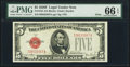 Small Size:Legal Tender Notes, Fr. 1531 $5 1928F Wide I Legal Tender Note. PMG Gem Uncirculated 66 EPQ.. ...