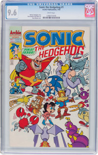 Sonic the Hedgehog #1 (Archie, 1993) CGC NM+ 9.6 White pages