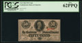 Confederate Notes:1863 Issues, T63 50 Cents 1863 PF-6 Cr. 488.. ...