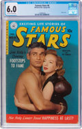 Golden Age (1938-1955):Adventure, Famous Stars #6 (Ziff-Davis, 1952) CGC FN 6.0 Off-white to white pages....