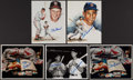 Autographs:Photos, Stan Musial and Ted Williams Signed Photographs Lot of 5.. ...