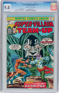 Super-Villain Team-Up #1 (Marvel, 1975) CGC NM/MT 9.8 Off-white to white pages