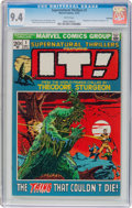Bronze Age (1970-1979):Science Fiction, Supernatural Thrillers #1 Winnipeg Pedigree (Marvel, 1972) CGC NM 9.4 White pages....