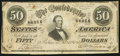 Confederate Notes:1864 Issues, T66 $50 1864 PF-16.. ...